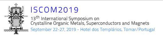 13th International Symposium on Crystalline Organic Metals, Superconductors and Magnets (ISCOM2019)